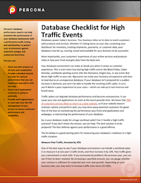 High Traffic Events Checklist