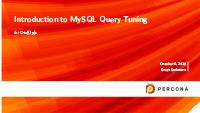 Sveta Smirnova on query tuning MySQL