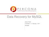 FOSDEM, February 2011: Data Recovery for MySQL