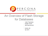 UC2010 An Overview of Flash Storage for Databases