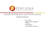 UC2010 InnoDB Architecure And Performance Optimization