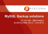 MySQL Backup solutions