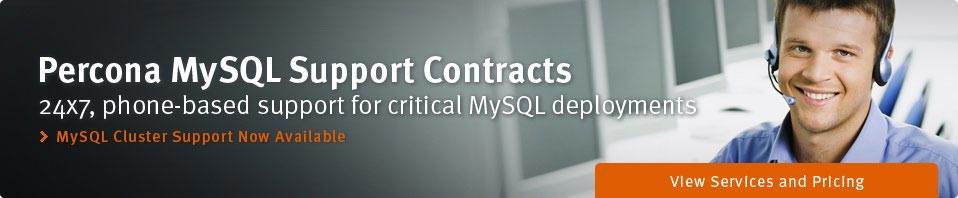 Percona MySQL Support Contracts