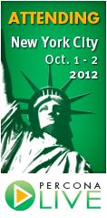 Percona Live New York City, October 1 - 2, 2012