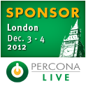 Percona Live London, December 3-4, 2012