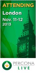 Percona Live London, November 11-12, 2013