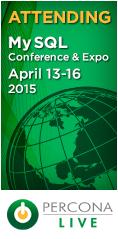 Percona Live MySQL Conference and Expo, April 13-16, 2015