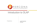 Independent Oracle Users Group, August 2010: Introduction to OLAP