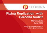 Fixing Replication with Percona toolkit