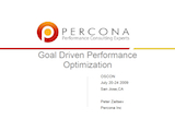 OSCON 2009: Goal Driven Performance Application