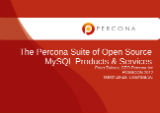The Percona Suite of Open Source MySQL Products & Services