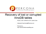 UC2010 Recovery of lost or corrupted InnoDB tables