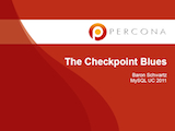 O'Reilly MySQL Conference and Expo, April 11-14, 2011: The Checkpoint Blues