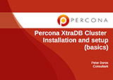 Percona XtraDB Cluster - Installation and Setup