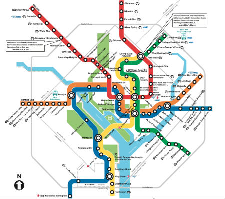 Washington DC - Metro Map