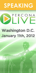 Percona Live MySQL Conference, Washington DC, January 11th, 2012