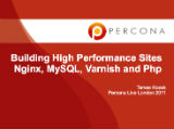 Building High Performance Sites with nginx, mysql, varnish and php