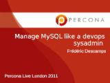 Deploy MySQL like a devops sysadmin
