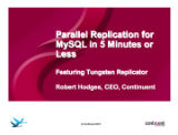 MySQL Parallel Replication in 5 Minutes or Less